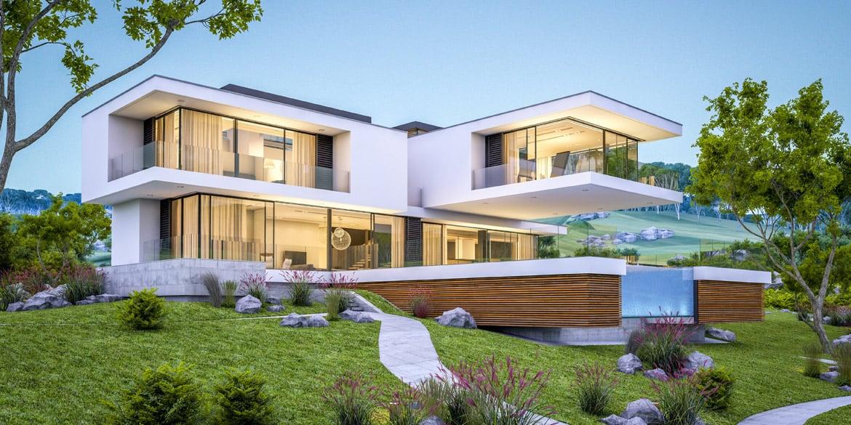 Einfamilienhaus-Luxus