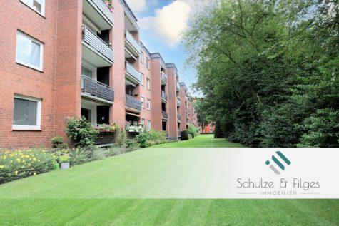 Gepflegte Wohnung mit Balkon und Stellplatz in ruhiger Sackgassenlage, 25421 Pinneberg, Erdgeschosswohnung